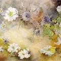 petunias-aquarelle-Francoise-Dubourg