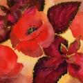 coquelicot-bouquet-feuille-aquarelle-Francoise-Dubourg