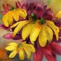 fleurs-jaunes-dahlia-aquarelle-Francoise-Dubourg