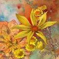 fleurs-jaunes-dahlia-mouchete-aquarelle-Francoise-Dubourg