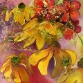 fleurs-jaunes-geranium-aquarelle-Francoise-Dubourg