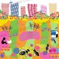ville-nature-abeilles-toit-ruche-potagers-illustration- Françoise Dubourg