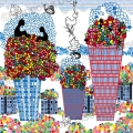 ville-nature-toit-fleurs-illustration-Françoise Dubourg