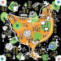 ville-nature-poule-rousse-nuit-illustration- Françoise Dubourg