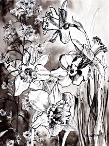 Françoise Dubourg- peinture- création textile- illustration-pattern