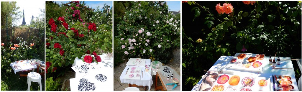 Mon installation au jardin de roses de Bernadette