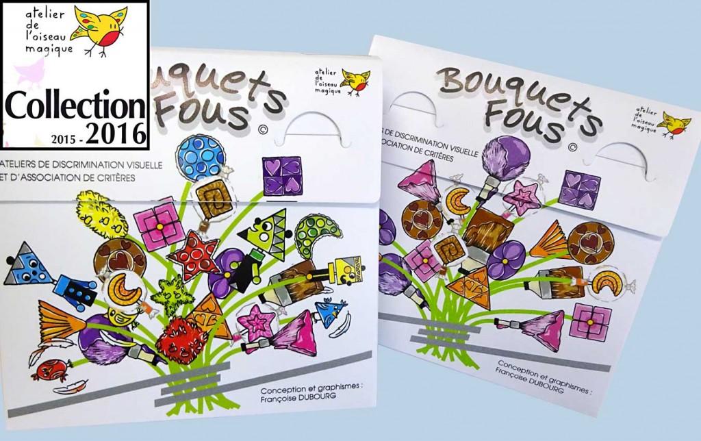 Jeu ludo-éducatif - Bouquets Fous - création Françoise Dubourg
