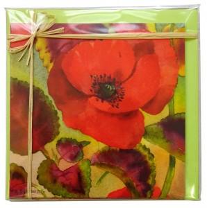 6 cartes d'aquarelles florales Françoise Dubourg